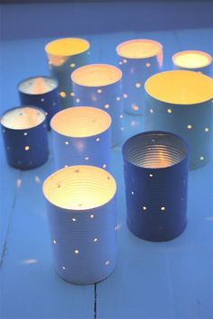 We have prepared here some beautiful DIY tin can lanterns that can really make some stunning compliments to your home decors. All these tin can lanterns make Tin Can Crafts, Diy Crafts, Tin Can Lanterns, Garden Lanterns, Garden Party Decorations, Tea Lights, Twinkle Lights, Diy Projects, Canning