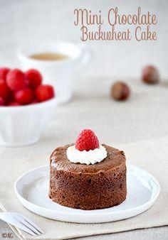 Gâteau au chocolat de David Lebovitz en version mini - Chocolate Buckwheat Cake