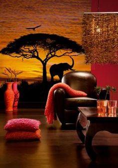 Mooi fotobehang met ene print uit Zuid-Afrika