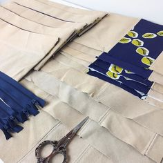 Lots of small remnants can be pieced together to make some pretty awesome things  #sustainablefashion