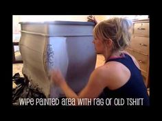 """How to Apply the """"Wash"""" Technique With Chalk Paint - YouTube"""