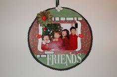 Hanging scrapbook ornament