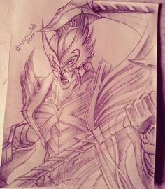 Naruto And Kurama Fanart My Sketch Pinterest Fan