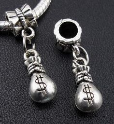 Awesome Tibetan Silver Money Bag Charm With Bail #F72 $4.95