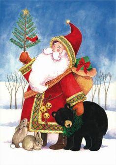 Christmas Santa Claus Greetings Postcards for Xmas and Holidays,  Santa Greetings -  Santa Greetings - Postcards -  santa, claus, greetings, postcard, ecard, xmas, christmas, holidays, free, clipart,