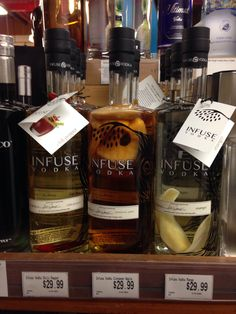 Infuse at Wally's Wine in Westwood, CA. www.wallywine.com  All natural infused vodka.