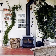 A lovely nook to read in the garden shed on those days when it is too cold to work outside
