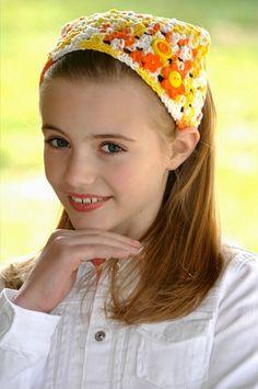 Summer Hair Kerchief Orange Hair Accessories by foreverandrea b38c869ceee