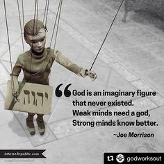 #Repost @godworksout with @repostapp ・・・ . . . #joemorrison #atheist #atheists…