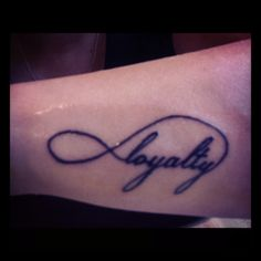 Loyalty is just a tattoo