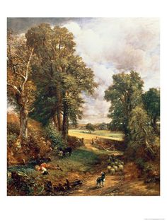 "This painting by is by John Constable. He was known for capturing the ""look of nature"" no matter what he drew. Love for nature was one of the main themes in Romantic style paintings."