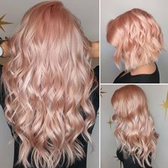 """1,356 Likes, 9 Comments - Hair Makeup Nails Beauty (@hotforbeauty) on Instagram: """"How luscious! Peachy Pearl hair color and designs by @lorietherrien #hotonbeauty . . . .…"""""""