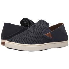 OluKai Pehuea (Trench Blue/Trench Blue) Women's Slip on Shoes ($80) ❤ liked on Polyvore featuring shoes, blue shoes, olukai, pull on shoes, slip on shoes and blue slip on shoes