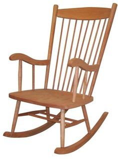 Amish Adult Rocker Comfy and welcoming. Supportive for lower back. Solid wood construction. Choose wood and stain today for this Amish made Adult Rocker you can enjoy for decades. #rocker #rockingchair Hardwood Furniture, Amish Furniture, Recycled Furniture, Furniture Making, Amish Rocking Chairs, Glider Rocking Chair, Shaker Style Furniture, How To Varnish Wood, Living Room Seating