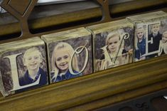 Christmas DIY : 4 Photo Blocks – Image transferred to wood not glued – Wedding Gift – Last Name – Anniversary – Enga Photo Projects, Diy Wood Projects, Diy Projects To Try, Vinyl Projects, Art Projects, Wood Block Crafts, Wood Crafts, Wood Blocks, Glass Blocks