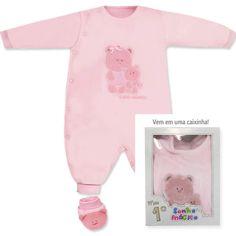 Macacão Meu 1º Sonho Mágico para Bebê Menina Rosa - Sonho Mágico :: 764 Kids   Roupa bebê e infantil