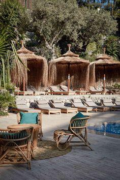 Bikini Island and Mountain Hotel - Life is better in bikini - Nook Twelve Beach Bungalows, Beach Resorts, Hotels And Resorts, Beach Hotels, Beautiful Hotels, Beautiful Places, Beach Bungalow Exterior, Outdoor Spaces, Outdoor Living