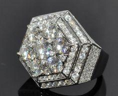diamond pinky rings for men | eBay