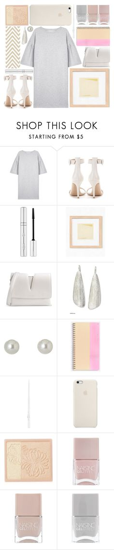 """""""soft and gentle"""" by foundlostme ❤ liked on Polyvore featuring MM6 Maison Margiela, Gianvito Rossi, Zelens, Jil Sander, NOVICA, Givenchy, Paul & Joe, Nails Inc. and minidress"""