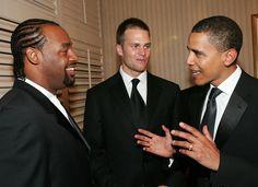 B. Obama with D. McNabb & T. Brady