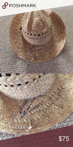 Cowboy hat signed by Easton Corbin & Lucy Hale Corona Mexico cowboy hat signed by country artist Easton Corbin and singer and actress of Pretty Little Liar's Lucy Hale Accessories Hats