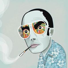 curt makes pictures: hunter s thompson