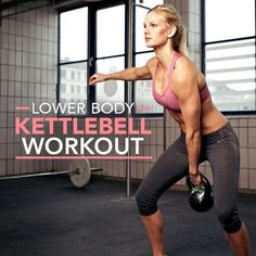 Lower Body Kettlebell Workout will tighten and tone your entire lower body without a ton of cardio!  #lowerbodyworkout #buttworkouts #legworkouts