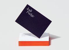 Underline Studio is a Toronto-based graphic design firm specializing in identity, editorial, exhibition, packaging, and digital design. Examples Of Business Cards, Unique Business Cards, Corporate Design, Stationery Design, Branding Design, Color Bordo, Business Card Design Inspiration, Packaging, Painting Edges