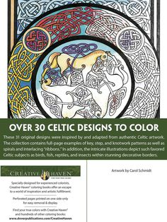 creative haven celtic designs coloring book adult coloring