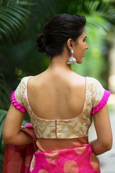 Buy Designer Blouses online, Custom Design Blouses, Ready Made Blouses, Saree Blouse patterns at our online shop House of Blouse from India. Netted Blouse Designs, Blouse Designs High Neck, Simple Blouse Designs, Stylish Blouse Design, Bridal Blouse Designs, Simple Designs, Designer Blouse Patterns, Kurti Designs Party Wear, Embroidered Blouse