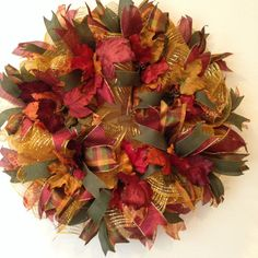 Fall Deco Mesh Wreath Fall Wreath Autumn by BayWreathDesigns