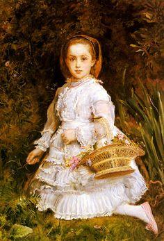 John Everett Millais (1829-1896)  Portrait Of Gracia Lees, 1875  Oil on canvas  75 x 107 cm  (29.53