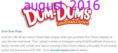 Free Printable Coupons: Great Clips Coupons Free Printable Coupons, Free Printables, Dum Dums Lollipops, Great Clips Coupons, Coupon Codes, Coding, January 2016, March, Mars