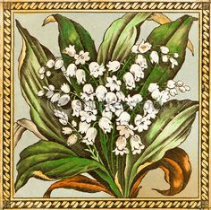 Victorian Lily of the Valley design
