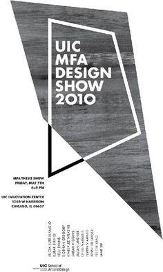 欧洲设计院校毕业展海报设计精选