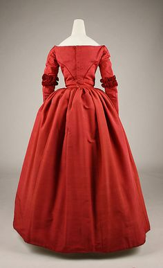 Dress Date: 1845–49 Culture: American or European Medium: silk