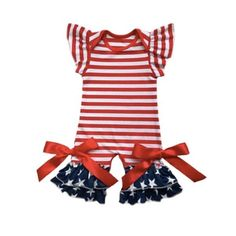 45f1590d3bc American Flag Romper. American Flag RomperJuly BabyBaby Girl RomperLittle  Princess4th Of JulyJumpsuitRompersOverallsMonkey