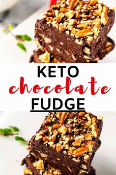 When you are looking for a creamy chocolatey bite, it doesn't get any better than this Keto Chocolate Fudge. Rich and decadent, this no-cook low carb fudge never fails to delight. (And it is SO easy to make!) Keep this one in the freezer for chocolate emergencies. Healthy Chocolate Desserts, Chocolate Fudge, Low Carb Desserts, Healthy Dessert Recipes, Keto Recipes, Fudge Recipes, Chocolate Recipes, Snack Recipes, Best Low Carb Snacks