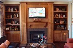Fireplace + Entertainment Center = Genius.