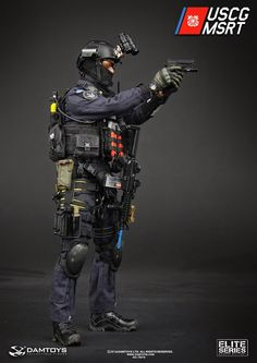 "toyhaven: Dam Toys 1/6 scale U.S. Coast Guard MSRT (Maritime Security Response Team) 12"" figure"
