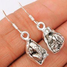 Meteorite Campo Del Cielo 925 Sterling Silver Earrings Jewelry MCDE176 - JJDesignerJewelry