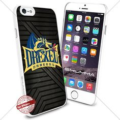 """NCAA Drexel Dragons iPhone 6 4.7"""" Case Cover Protector for iPhone 6 TPU Rubber Case White SHUMMA http://www.amazon.com/dp/B0176HZRQG/ref=cm_sw_r_pi_dp_dx7Mwb0HDBT3D"""