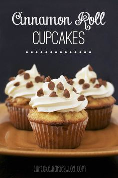 Make some fun twist with luscious fall dessert, Cinnamon roll and bake it in cupcake version. Cinnamon Roll Cupcakes recipe by Cupcake Diaries sounds so simple Cinnamon Roll Cupcakes, Yummy Cupcakes, Cinnamon Rolls, Oreo Cupcakes, Gourmet Cupcakes, Strawberry Cupcakes, Easter Cupcakes, Flower Cupcakes, Velvet Cupcakes