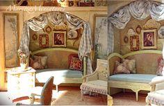 Good Sam Showcase of Miniatures: Dealer Maritza Moran, Maritza Miniatures - Furniture & Accessories Miniature Rooms, Miniature Furniture, Dollhouse Furniture, Victorian Dolls, Victorian Dollhouse, Barbie Bedroom, Glam House, Stucco Walls, Front Rooms