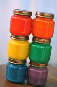 Homemade finger paints from macaroni kids