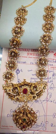 Gold Nakshi Long Necklace from PSJ