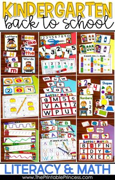 Looking for Back to School Centers to keep your kindergartners engaged? These alphabet, fine motor, counting, sorting, tracing, and matching activities are great for the first few weeks of school. Students will love practicing their letters, writing their numbers and matching upper and lowercase letters! Make sure you grab your FREEBIE! Beginning Of Kindergarten, Kindergarten Centers, Beginning Of School, Teaching Ideas Kindergarten, Activities For Teens, Back To School Activities, Math Activities, Preschool Songs, Alphabet Activities