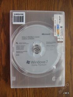 Windows 7/CD instal.