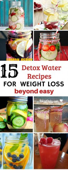 Are very easy to make detox juice recipes, water recipes, detox drinks, hea Weight Loss Water, Weight Loss Drinks, Water Recipes, Detox Recipes, Juice Recipes, Detox Tips, Salad Recipes, Smoothies, Digestive Detox