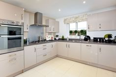The kitchen in The Stockham at Letcombe Fields in Wantage | Bovis Homes